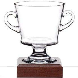 Nantucket Cup Award with Wood Base for Advertising