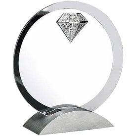 Optica Circle Jewel Award with Metal Base