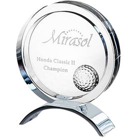 Optica Disc Golf Award with Metal Base