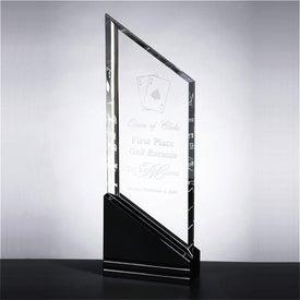 Monogrammed Optica Dual Slant Award