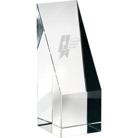Imprinted Orrefors Hancock Medium Award