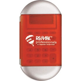 Oval Calculator with Cover Branded with Your Logo