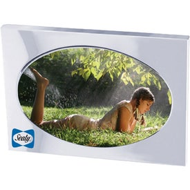 Oval Chrome Metal Picture Frame for Promotion