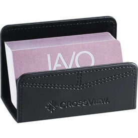 Imprinted Pedova Business Card Holder