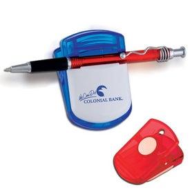 Pen Memo Magnetic Fridge Office Clip