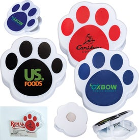 Pet Paw Magnetic Memo Clips