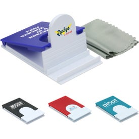 Logo Phone Holder with Microfiber Cloth
