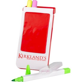 Logo Phone Holder with Highlighters
