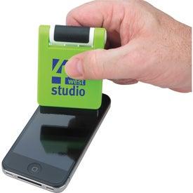 Custom Phone Holder With Screen Cleaner