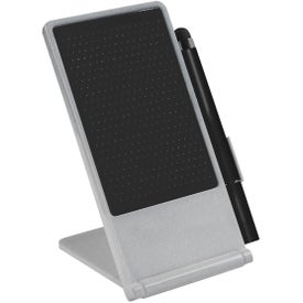 Phone Stand With Stylus Pen (Silver)