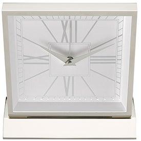 Monogrammed Piazza Desk Clock