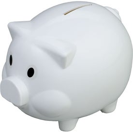 Monogrammed Piggy Shaped Bank