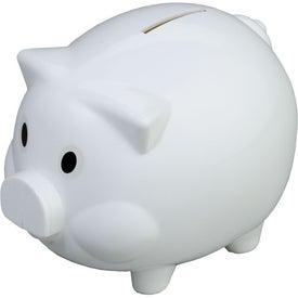 Monogrammed Piggy Shaped Bank