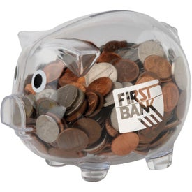 Clear Piggy Bank for Your Organization