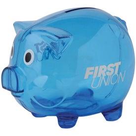 Monogrammed Clear Piggy Bank