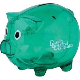 Imprinted Clear Piggy Bank