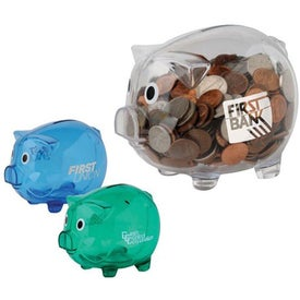Clear Piggy Bank for Your Company