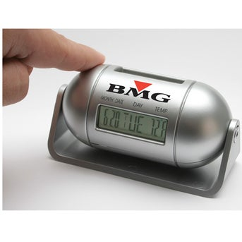 Pill Shaped Multi Function LCD Alarm Clock