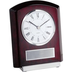 Monogrammed Plaque Style Clock with Base