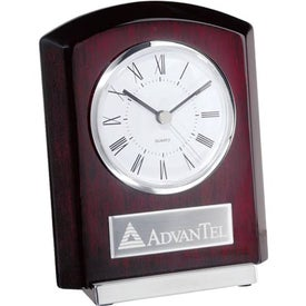 Custom Plaque Style Clock with Base