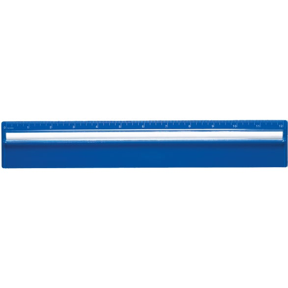 Blue Plastic Ruler with Magnifying Glass