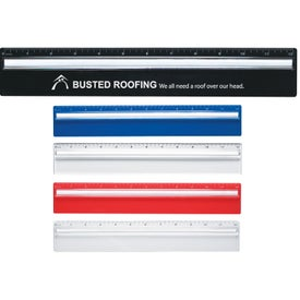 "Plastic 12"" Ruler With Magnifying Glass"