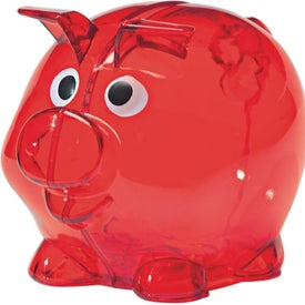 Branded Mini Plastic Piggy Bank