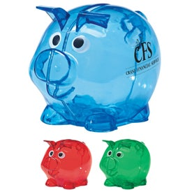 Printed Mini Plastic Piggy Bank