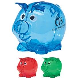 Printed Mini Plastic Piggy Bank
