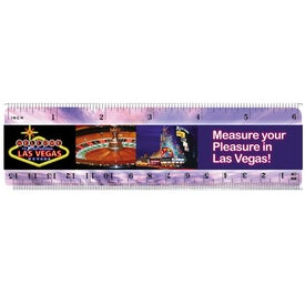 """Plastic Ruler (6"""", Digitally Printed)"""