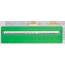 """Monogrammed Plastic 6"""" Ruler with Magnifying Glass"""