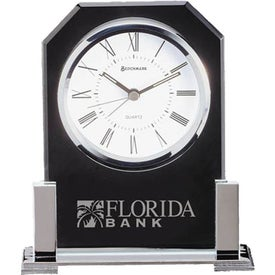 Personalized Platinum Clock