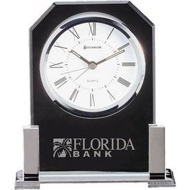 Personalized Platinum Clock