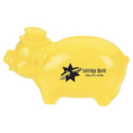 Plastic Pig Bank for Marketing