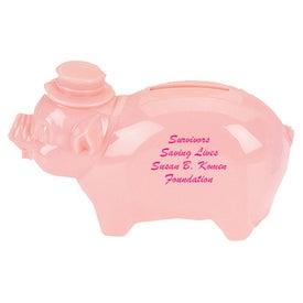 Plastic Pig Bank Giveaways