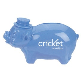 Plastic Pig Bank Branded with Your Logo