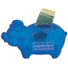 Customized Plastic Pig Bank