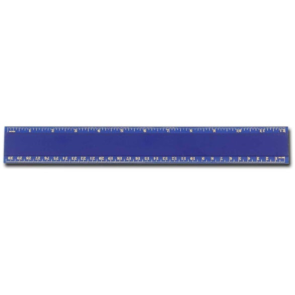Translucent Blue Pro-Scale Plastic Ruler
