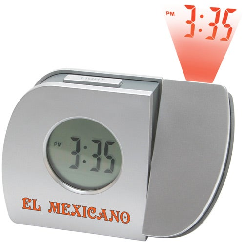 Silver Projection Alarm Clock