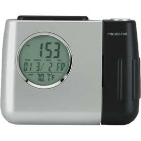Monogrammed Projector Alarm Clock