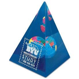 Pyramid Globe Paperweight