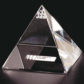 Pyramid Award with Your Slogan