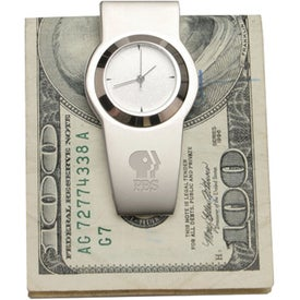 Quartz Analog Clock With Carabineer Clip