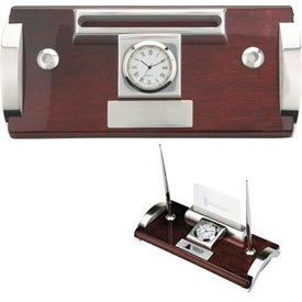 Branded Quercia I Wood and Aluminum Clock