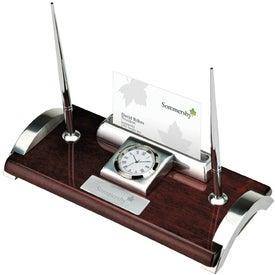 Quercia I Wood and Aluminum Clock