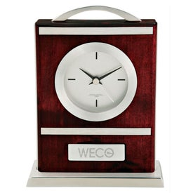 Quercia VI Wood and Aluminum Carriage Clock