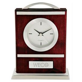 Quercia VI Wood and Aluminum Carriage Clock