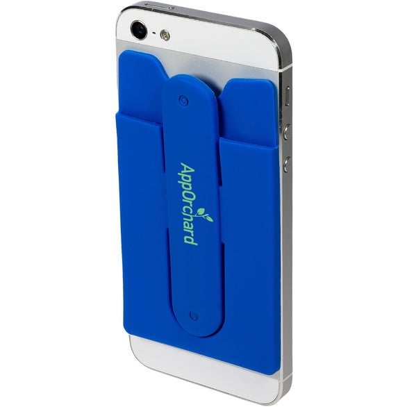 Blue Quik-Snap Mobile Device Pocket and Stand