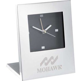 Promotional Radiance Silver Plated Alarm Clock