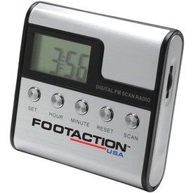 Imprinted Radio with Digital Clock